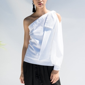 M098_SINGLE_SLEEVE_COTTON_WHITE_TOP_01_Mute_by_JL_1050x